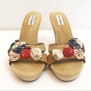 Steve Madden Fabric Flower Hippie Summer Heels